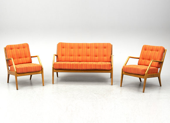 Orla Mølgaard-Nielsen Oak Easy Chairs & Sofa Model FD123