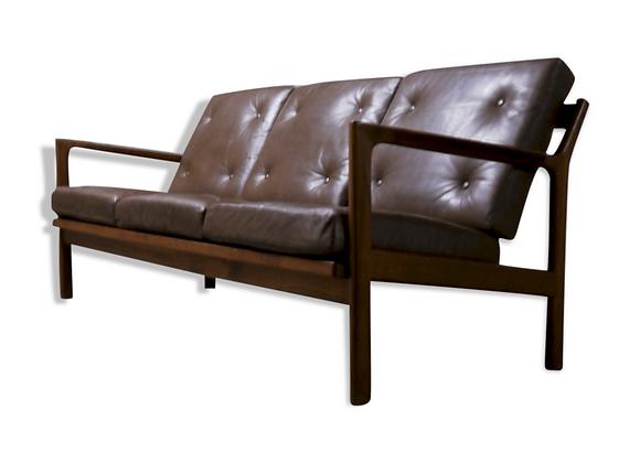 Karl Erik Ekselius Rosewood 3-Seater Sofa