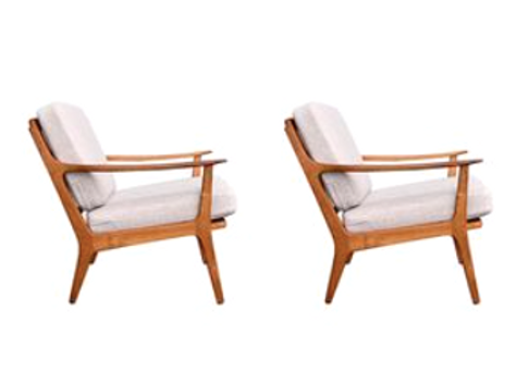 Danish Teak Easy Chairs, Set of 2