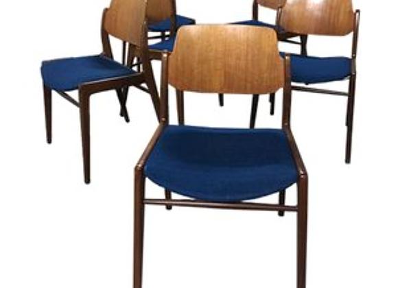 6x Hartmut Lohmeyer Teak Dining Chairs