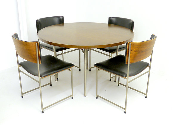 Brazilian Rosewood Dining Set by Cees Braakman
