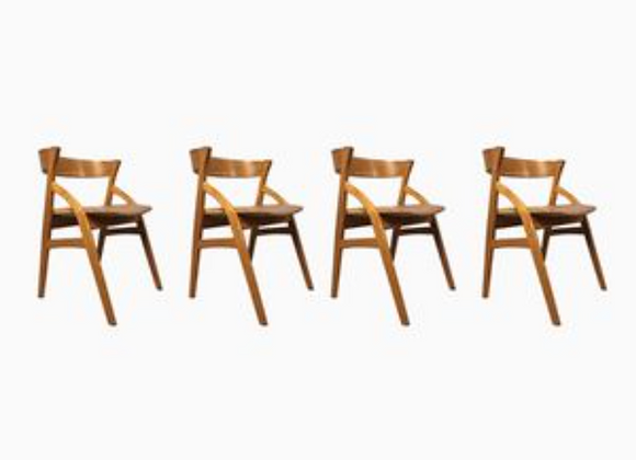Teak Armchairs from Dyrlund, Set of 4