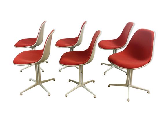 6x La Fonda Chairs Ray & Charles Eames