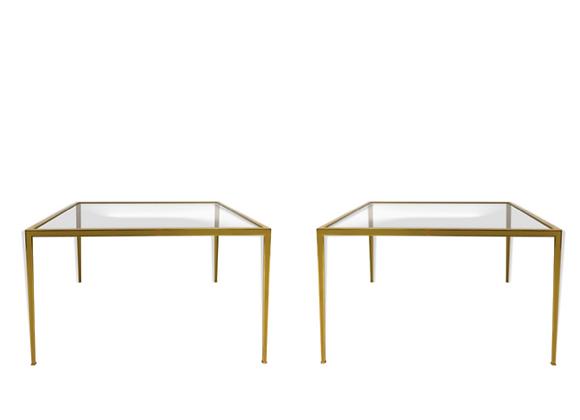 Deutsche Werkstätten Brass Coffee Table, Set of 2
