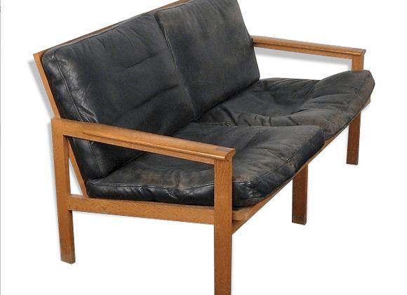 Illum Wikkelsø Model Capella Teak Sofa for Niels Eilersen