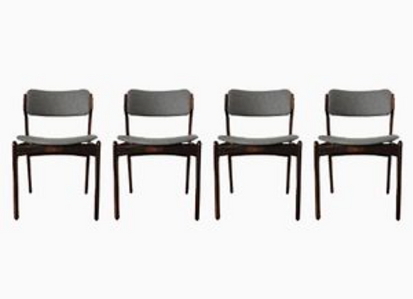 Erik Buch Model 49 Dining Chairs in Rosewood