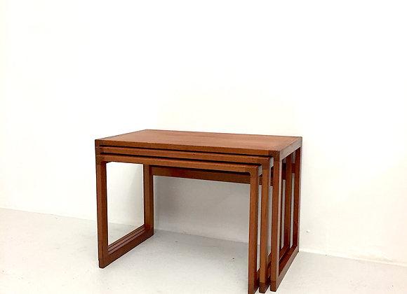 Kai Kristiansen Teak Nesting Tables, Set of 3