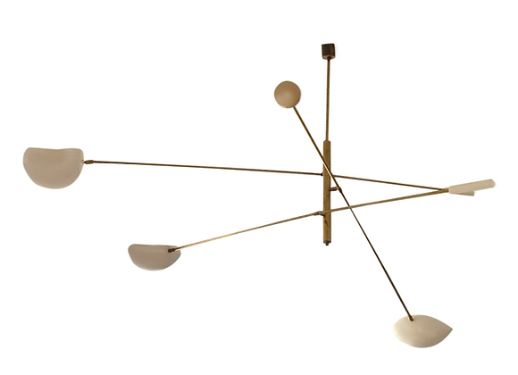 Large Asymmetric Ceiling Lamp Stilnovo Style