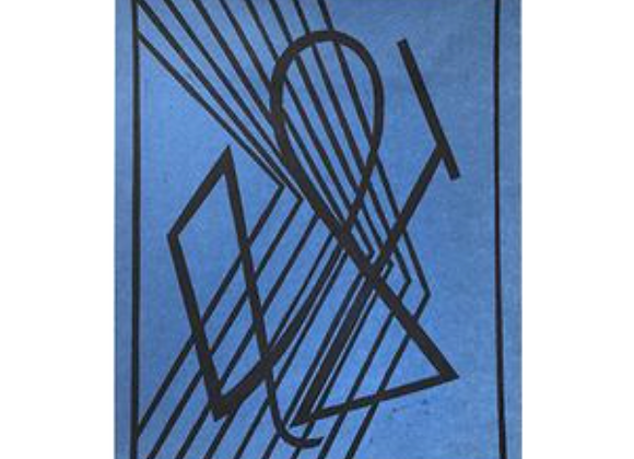 Cesar Domela De Stijl Style Woodcut for Edition Panderma