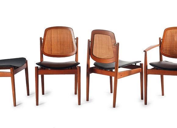 Arne Vodder Teak Dining Chairs, Set of 8