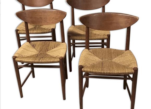 Peter Hvidt & Mølgaard-Nielsen TeakModel 316 Dining Chairs, Set of 4