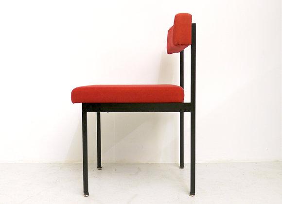 4x Dieter Wäckerlin Metal Dining Chair