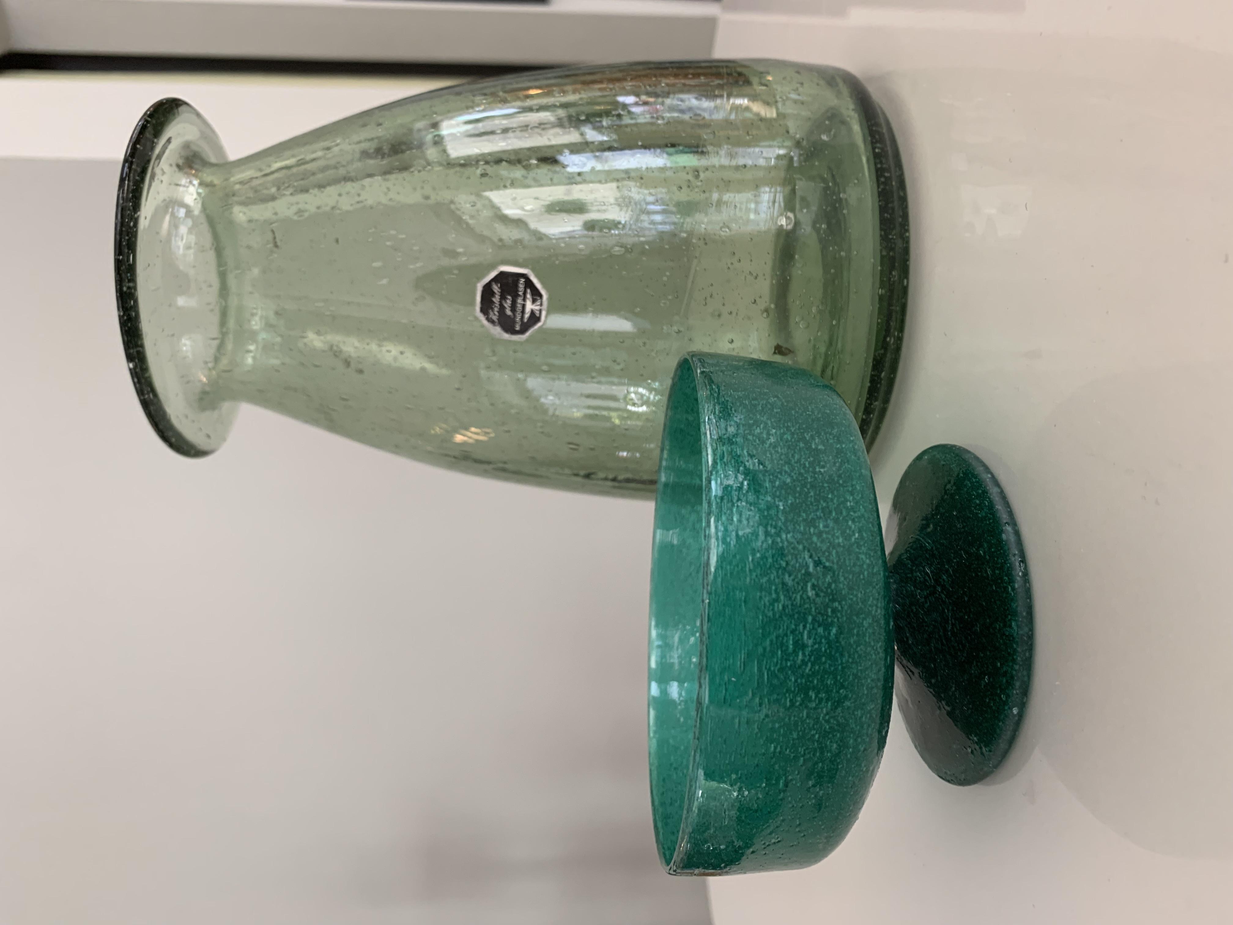Handmade Green Glass Vase