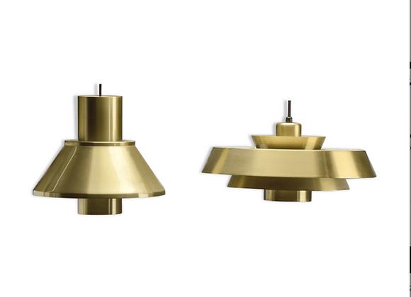 Jo Hammerborg Brass Nova & Life Hanging Lamps for Fog & Mørup, Set of 2
