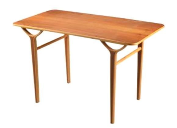 Peter Hvidt & Orla Mølgaard-Nielsen Birch AX Side Table for Fritz Hansen