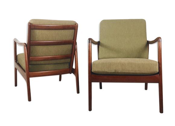 Ole Wanscher Teak Easy Chairs Model 109, Set of 2