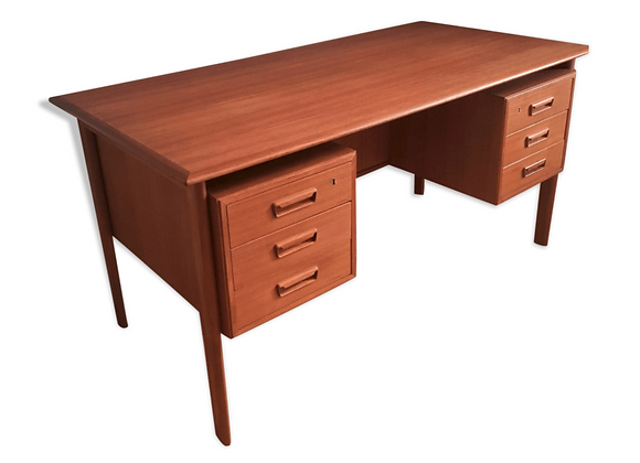 Gunnar Nielsen Large Teak Desk for Tibergaard