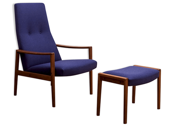 Illum Wikkelsø Teak Lounge Chair & Ottoman