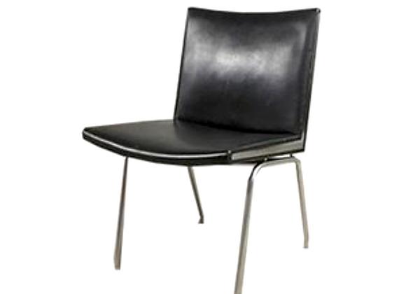 Hans J. Wegner Leather  AP-40 Chair for A.P. Stolen