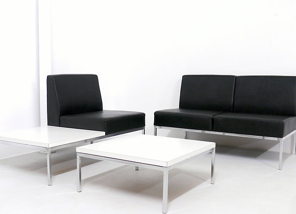 Thonet Chrome & Leather Lounge Set