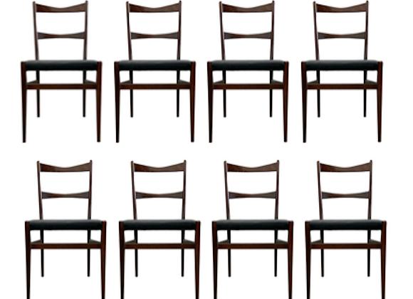 8x Danish Dining Chair by Illums Bolighus