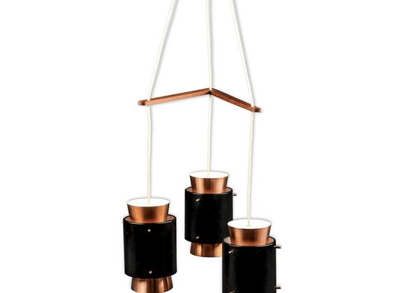 Jo Hammerborg Copper Ceiling Light for Fog & Mørup