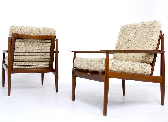 2x Svend Åge Eriksen Teak Easy Chair