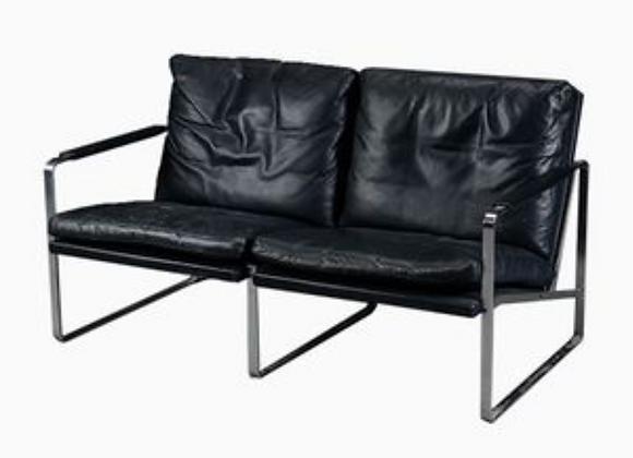 Jorgen Kastholm & Preben Fabricius Leather Sofa  for Walter Knoll