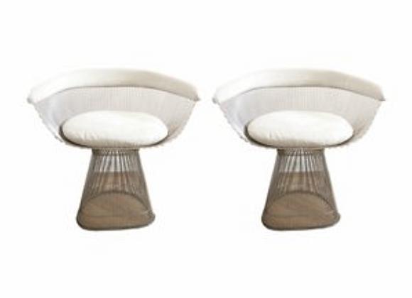 Warren Plattner Dining Chairs, Set of 2