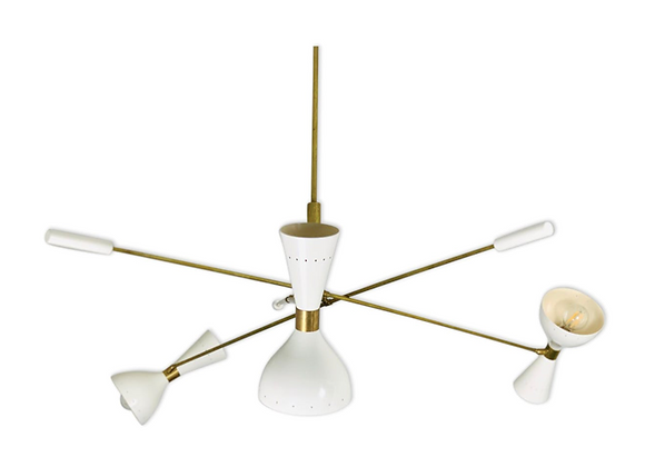 Asymmetric Ceiling Lamp Stilnovo Style