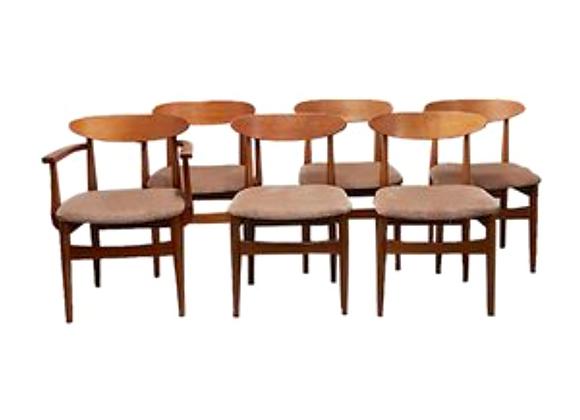 Ib Kofod-Larsen Teak Dining Chairs for G-Plan, Set of 6