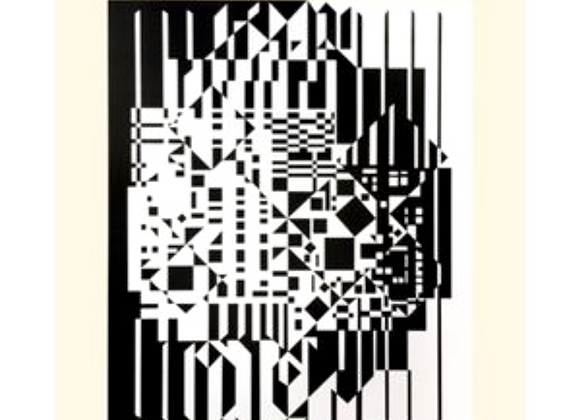 Victor Vasarely Syrom Print for Denise René