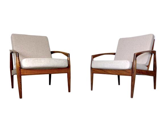 Pair of Kai Kristiansen Paper Knife Easy Chair in Palisander