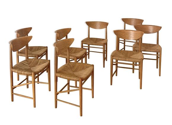 Oak Dining Chairs by Peter Hvidt & Orla Mølgaard Nielsen