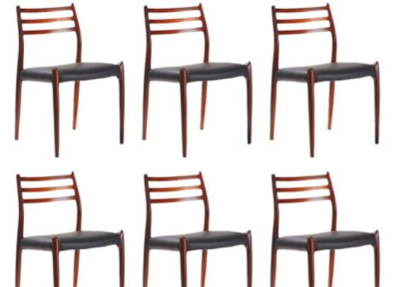 Niels Moller Chairs Model 78 in Palisander, Set of six