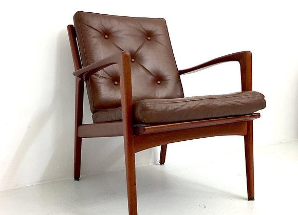 Pair of Karl-Erik Ekselius Teak Easy Chairs
