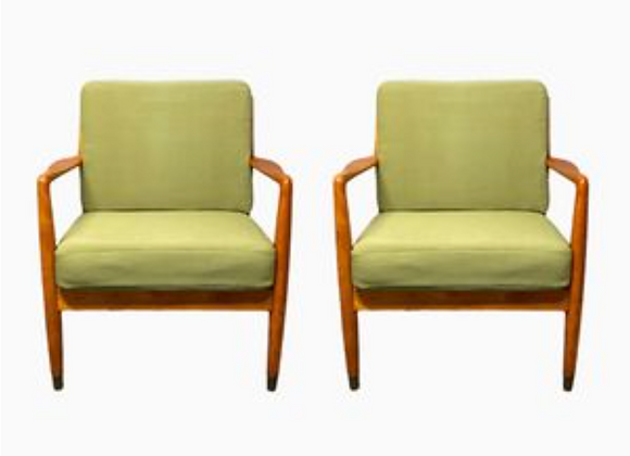 Folke Ohlsson  Beech Easy Chairs for DUX, Set of 2