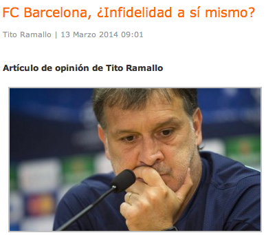FC Barcelona, ¿infidelidad a sí mismo?