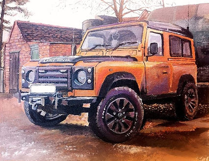 Lichfield Burntwood Artist Tom Glover Land Rover Car Portrait The Old Arthouse commission