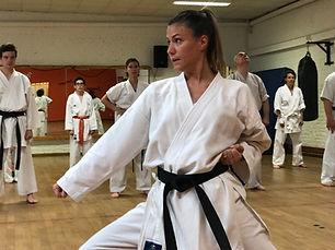 Julie Debatty, championne belge de karaté.