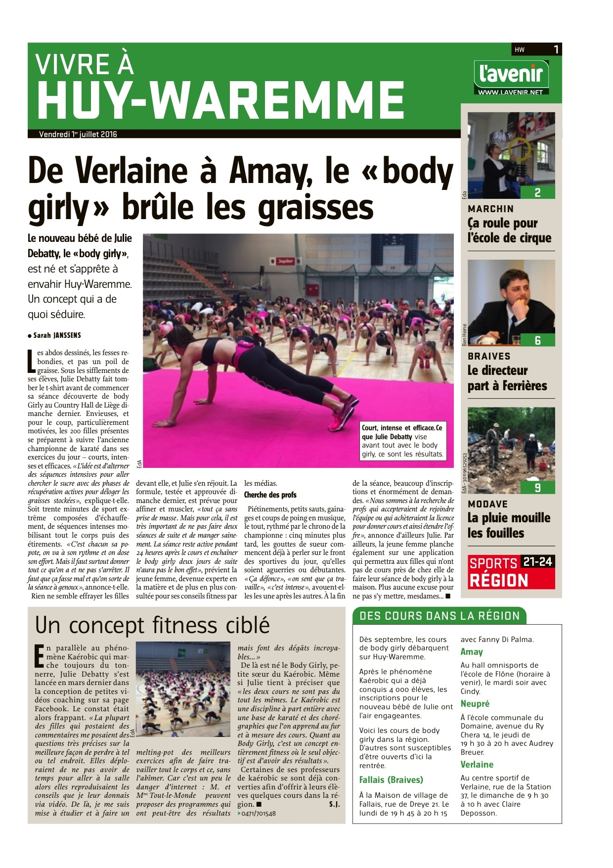 Article sur le BODYGirly