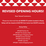 Revised Opening Hours during MCO