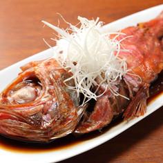 別注の金目鯛の煮付け(8000円~)