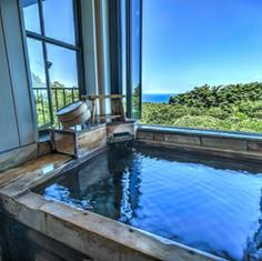 hanahana風の客室露天風呂