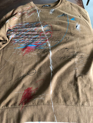 Painted Zara brown sweatshirt by MAXIM -  1 original