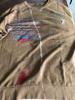 Painted Zara brown sweatshirt by MAXIM -  1 original