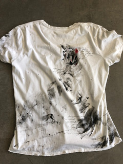 Painted white Drifter t-shirt by MAXIM -  1 original