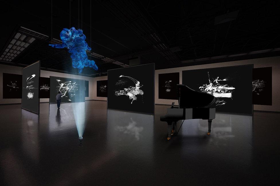 spoken-projection-exhibition-black-paint