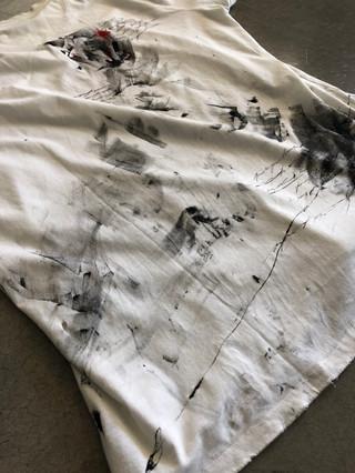 Painted white Drifter t-shirt by MAXIM -  1 original