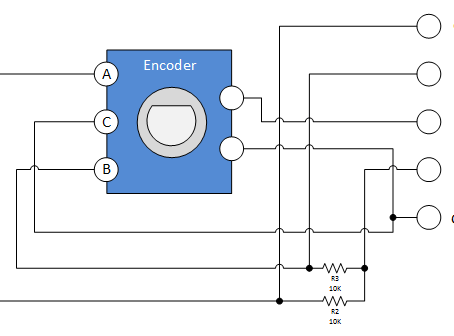 MPLAB 5  Contador binario con encoder rotatorio